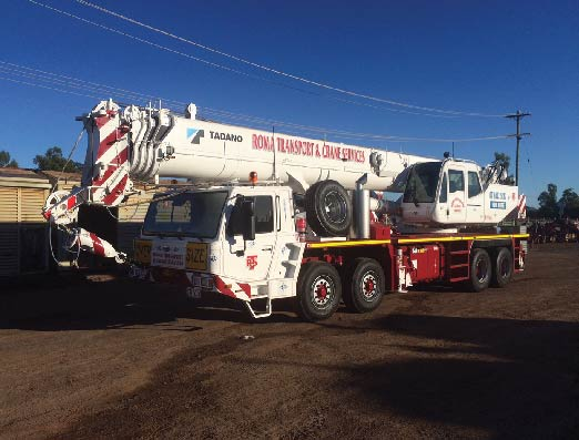Roma Transport Services offers Crane Services